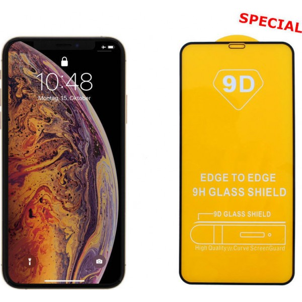9D Full Glue Full Face Tempered Glass Black (iPhone XS Max)