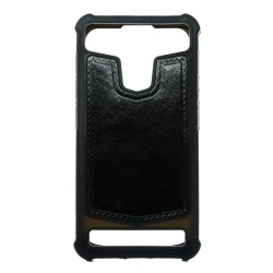 "POWERTECH Universal Style Silicone Bumper 4.7"" - 5.1"", Leather, Black"