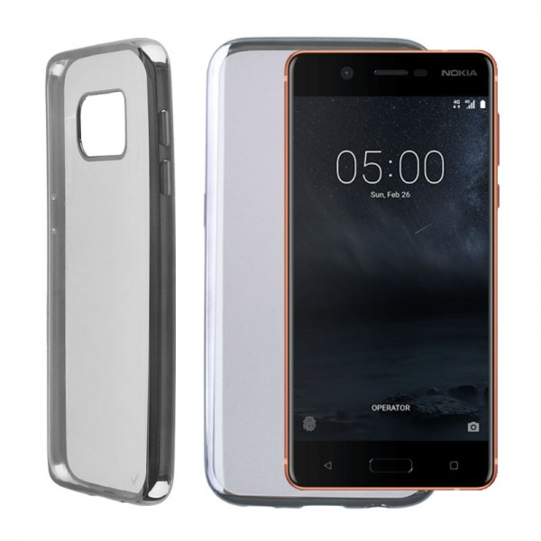 "ΘΗΚΗ NOKIA 5 5.2"" FACEPLATE ELECTROPLATING GREY"