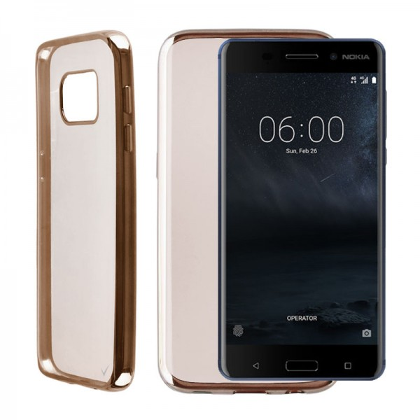 "ΘΗΚΗ NOKIA 6 5.5"" FACEPLATE ELECTROPLATING GOLD"
